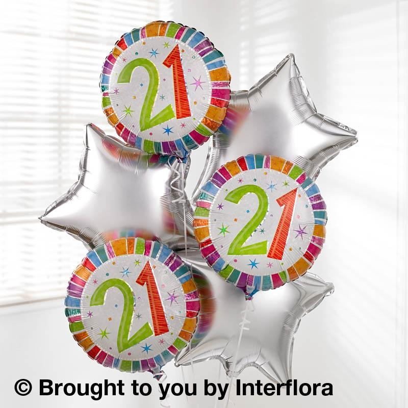 21st Birthday Helium Balloon Bouquet Buy Online Or Call 01274 584373