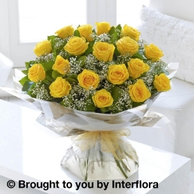Heavenly Yellow Rose Hand tied