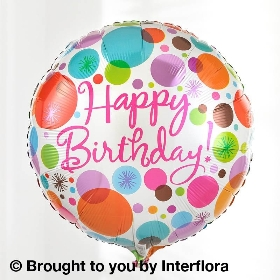 Happy Birthday Vibrant Perfect Gift with Happy Birthday Balloon