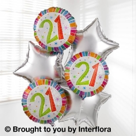21st Birthday Helium Balloon Bouquet