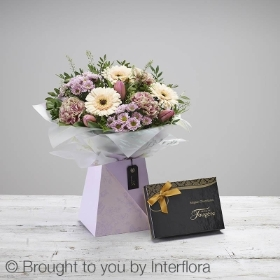 Mothers Day Pretty Gift Box with Belgian Chocolates