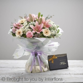 Mothers Day Cherish Hand tied with Belgian Chocolates