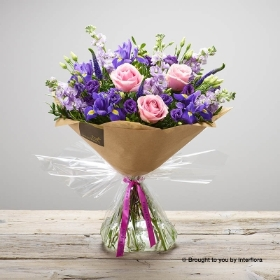 Happy Birthday Purple Twilight Hand tied