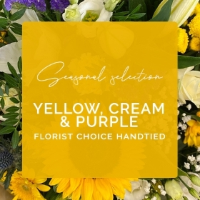Seasonal Selection Yellow, Cream & Purple